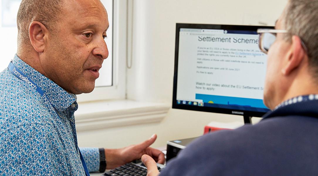 Thames Reach provide digital skills training for homeless people